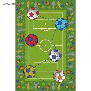Ковер принт Футбол, размер 100х150 см, цвет зеленый, полиамид 1470881