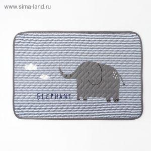 """Коврик детский Крошка Я """"Elephant"""" 40х60 см,хлопок, п/э    3938758"""