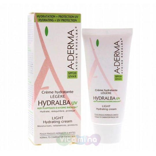A-Derma Hydralba UV Легкий увлажняющий крем, 40 мл