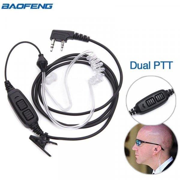 Гарнитура с силиконовым воздуховодом для раций UV-82, GT-5, GT-5TP