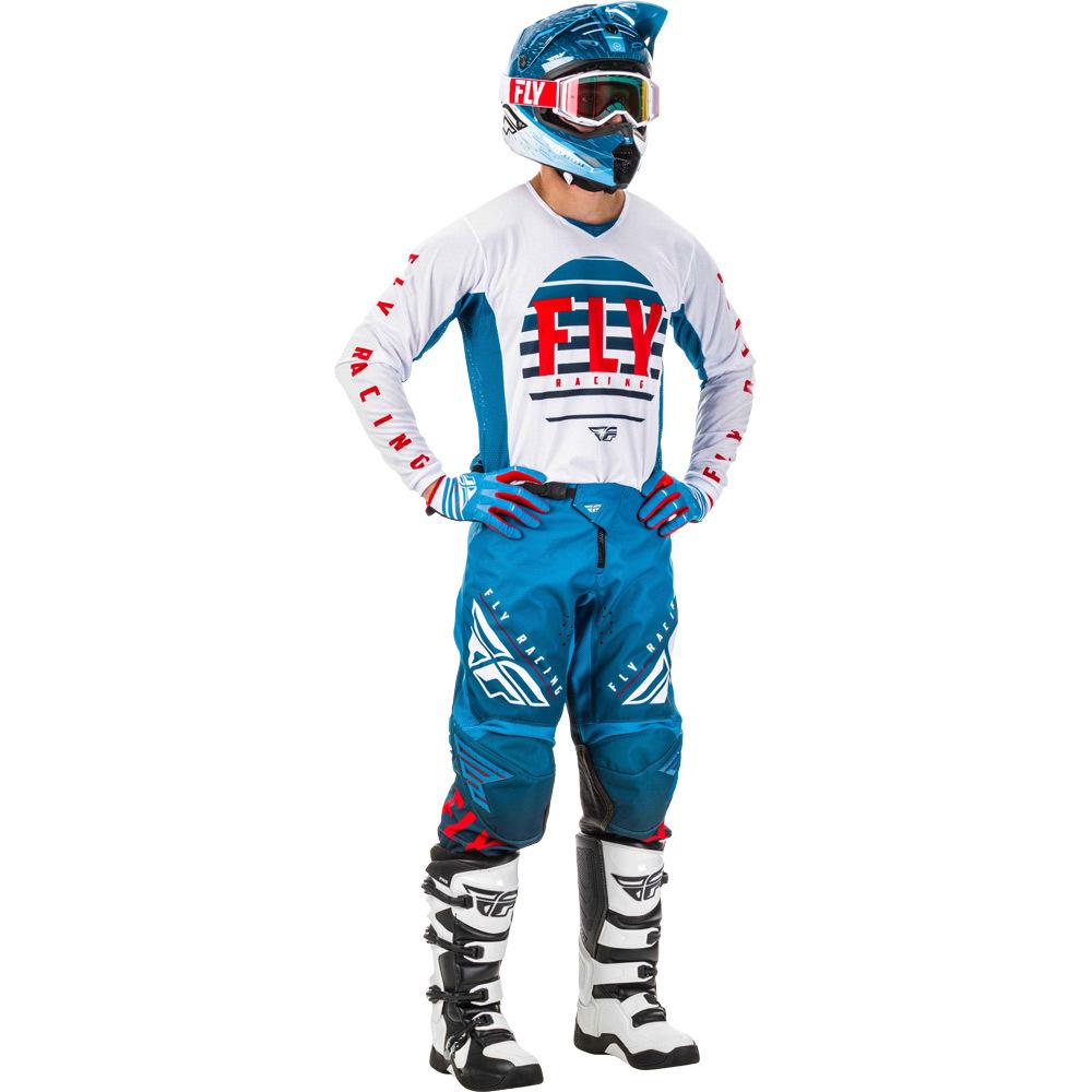 Fly - 2020 Kinetic K220 Blue/White/Red комплект штаны и джерси, сине-бело-красный