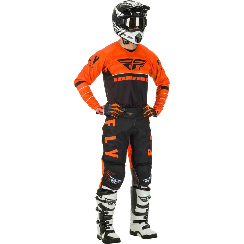 Fly - 2020 Kinetic K120 Orange/Black/White комплект штаны и джерси, оранжево-черно-белый