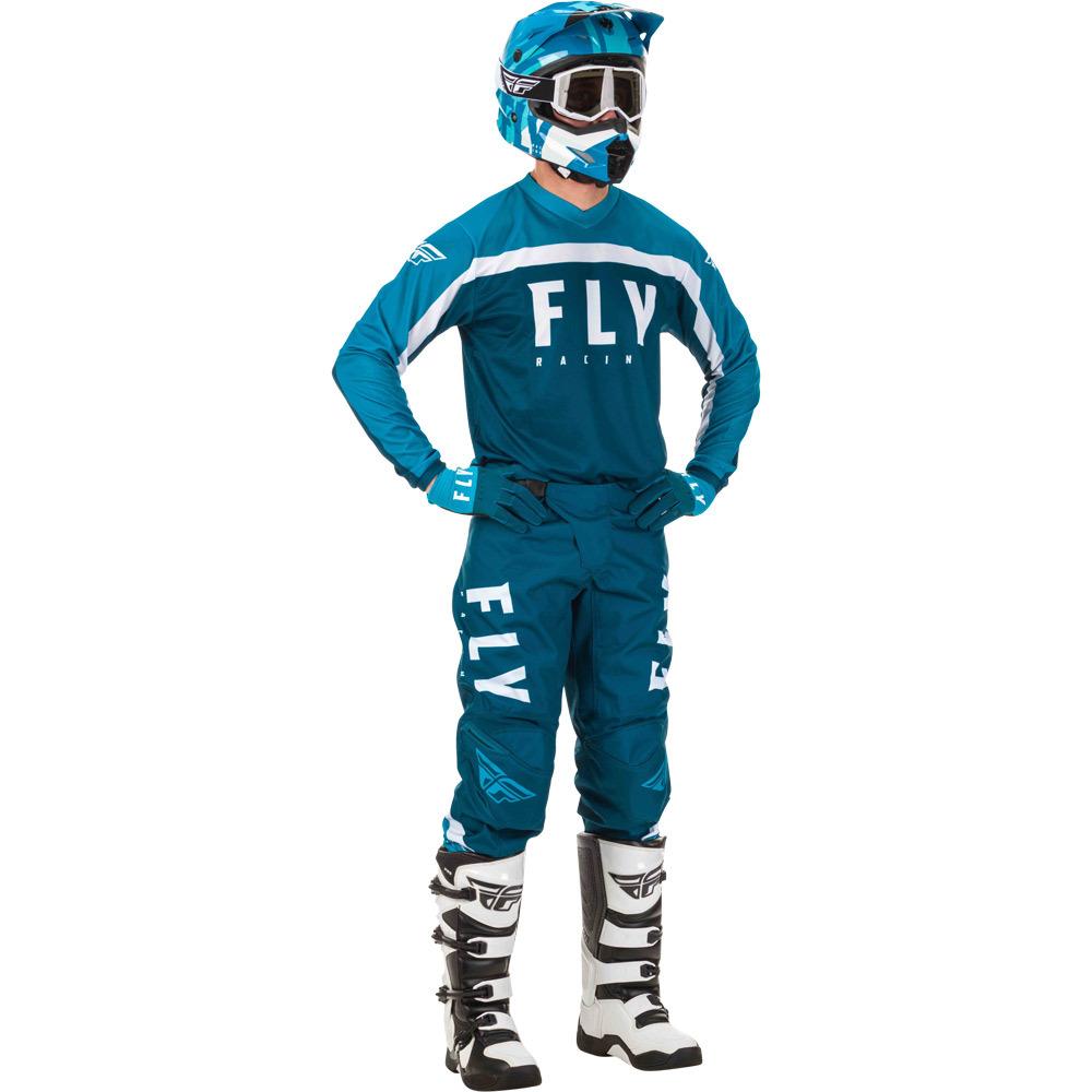 Fly - 2020 F-16 Navy/Blue/White комплект штаны и джерси, сине-белый