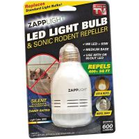 Лампочка - отпугиватель грызунов Zapplight LED Light Bulb & Sonic Rodent Repeller (1)
