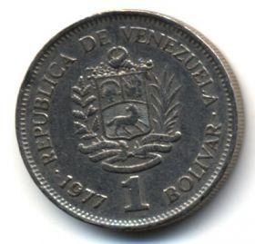 Венесуэла 1 боливар 1977