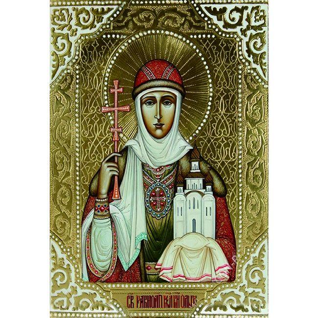 Набор Алмазная живопись Икона святая Ольга 40*30см DA-K1651