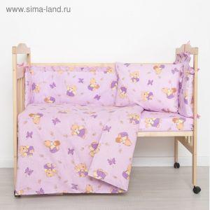 """Комплект """"Мишки с медом"""" (6 предметов), цвет фиолетовый 61/1 1423991"""