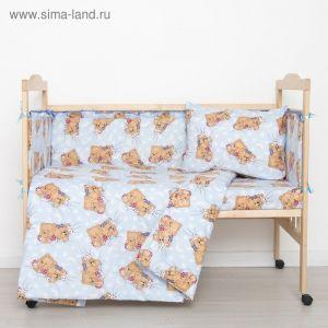 """Комплект """"Спящие мишки"""" (6 предметов), цвет голубой 65/1 1423995"""