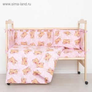 """Комплект """"Спящие мишки"""" (6 предметов), цвет розовый 65/1 1423994"""