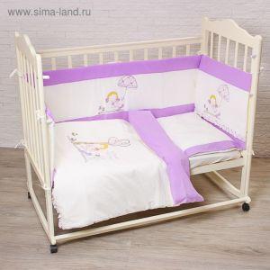 """Комплект в кроватку """"Куколка"""" (6 предметов), цвет бежевый 70112   1999296"""
