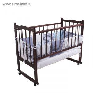 """Комплект в кроватку """"Эдельвейс"""" (6 предметов), цвет голубой 10010 1517177"""