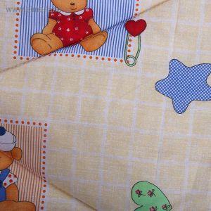 Одеяло шерстяное стёганное, размер 110*140 см, цвет Микс К31 1594773