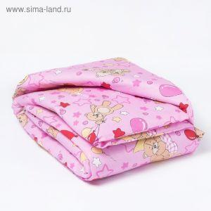 Одеяло, размер 110*140 см, цвет розовый, набивка МИКС 623 1423997