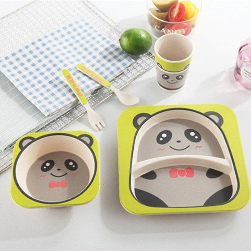 Набор Детской Посуды Из Бамбука Bamboo Ware Kids Set , Панда, 5 Предметов
