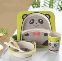 Набор детской посуды из бамбука Bamboo Ware Kids Set , Панда, 5 предметов (2)