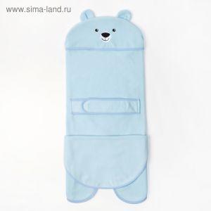 """Конверт-одеяло Крошка Я """"Мишка"""", голубой, рост 62-68 см 3950331"""