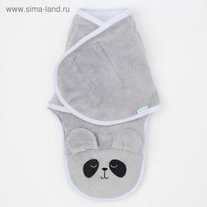 """Конверт-одеяло Крошка Я """"Пандочка"""", серый, рост 50-56 см   4027846"""
