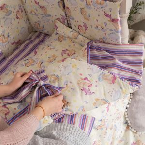 Одеяло (конверт) двустороннее «Единороги», 100х100 см, бязь/синтепон