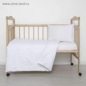 """Детское постельное бельё """"Грациозо"""", 120х60 см, 147х112 см, 42х62 см, цвет белый, бязь 1777591"""