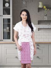 Фартук кухонный с салфеткой 30*50(гр.розовый) Арт.1128-8
