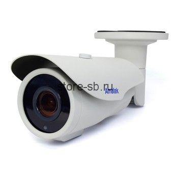 AC-IS206ZA (мото, 2,7-13,5) Amatek Уличная цилиндрическая IP видеокамера, 3Мп, Ик, POE, выход питания микрофона