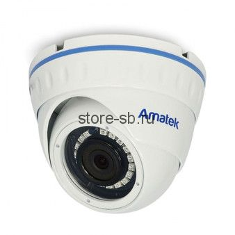 AC-IDV802A (4) Amatek Уличная антивандальная купольная IP камера, обьектив 4 mm, ИК, POE, 8mp