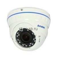 AC-IDV203VAS (2,8-12) Amatek Купольная антивандальная IP видеокамера, обьектив 2.8-12мм, 2Mp, Ик, POE
