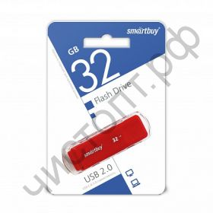 флэш-карта Smartbuy 32GB Dock Red