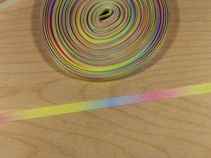 `Репсовая лента с рисунком, градиент №1, ширина 09 мм, Арт. Р-ЛР5817-09-1