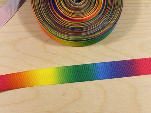 `Репсовая лента с рисунком, градиент №2, ширина 25 мм, Арт. Р-ЛР5817-25-2