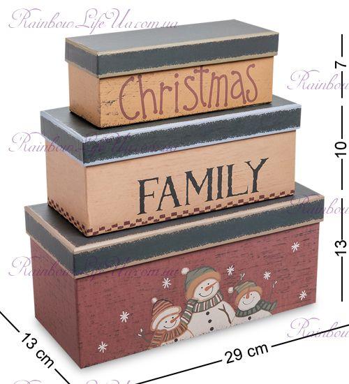 "Набор подарочных коробок 3 шт ""Новогодний"""