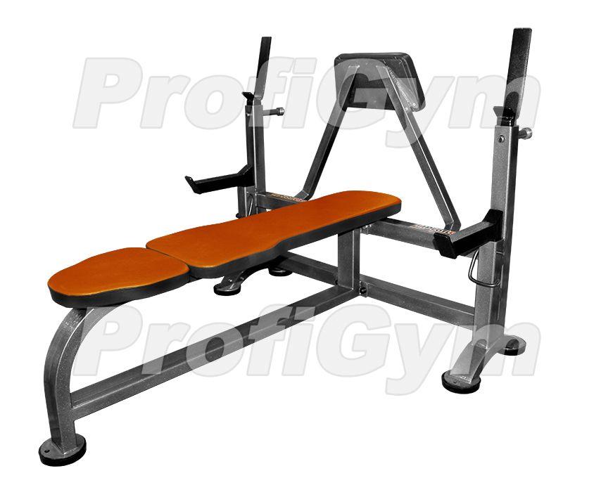 СК-0050-H Скамья для жима лежа со страховочными упорами и упором для партнера серия Classic
