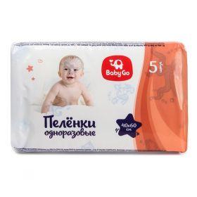 Пеленки Baby Go 40x60, 5шт