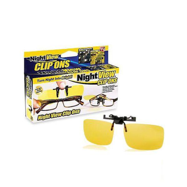 Антибликовые очки для водителей Night View Clip Ons
