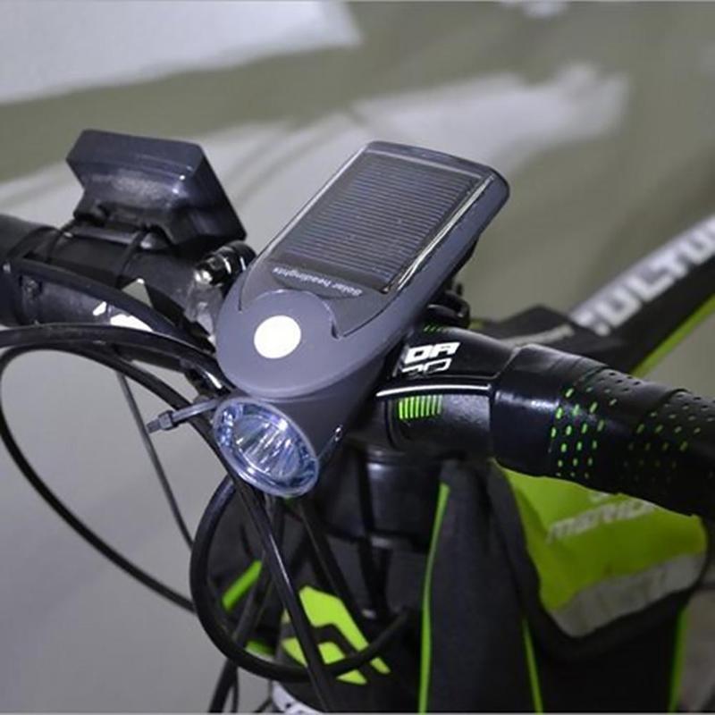 Велофара с солнечной батареей Solar Usb Bicycle Light FY-307