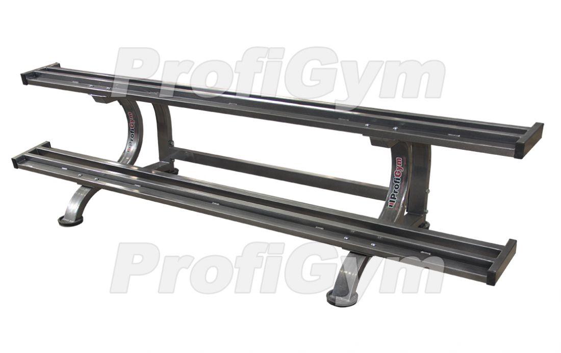 СТ2-2200-K Стеллаж для профессиональных гантелей на 10 пар серия Classic