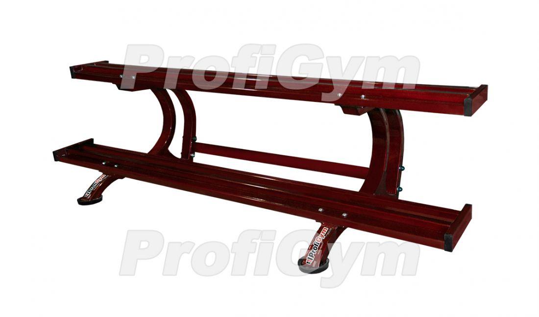 СТ-021Р Стеллаж для профессиональных гантелей на 10 пар серия Rubin