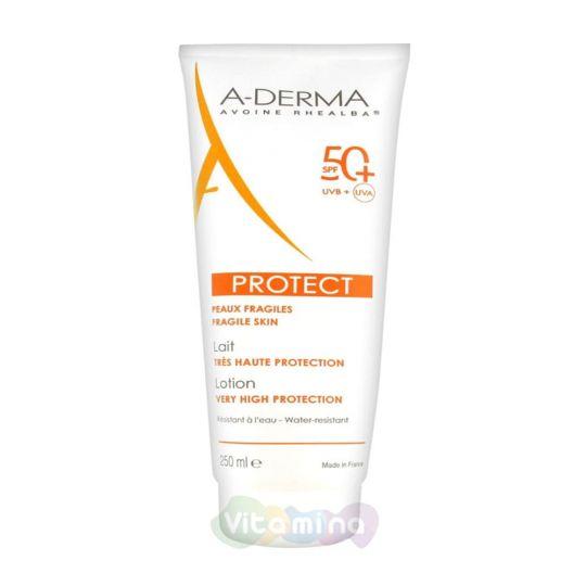 A-Derma Protect Солнцезащитный лосьон с высокой степенью защиты SPF 50, 250 мл