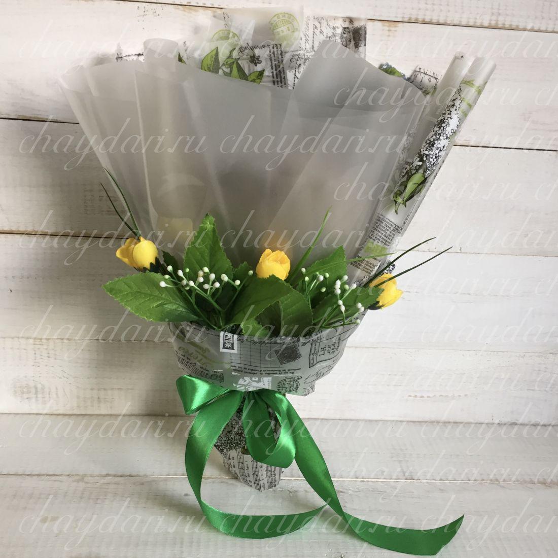 """Букет из чая """"Желтые цветы"""""""