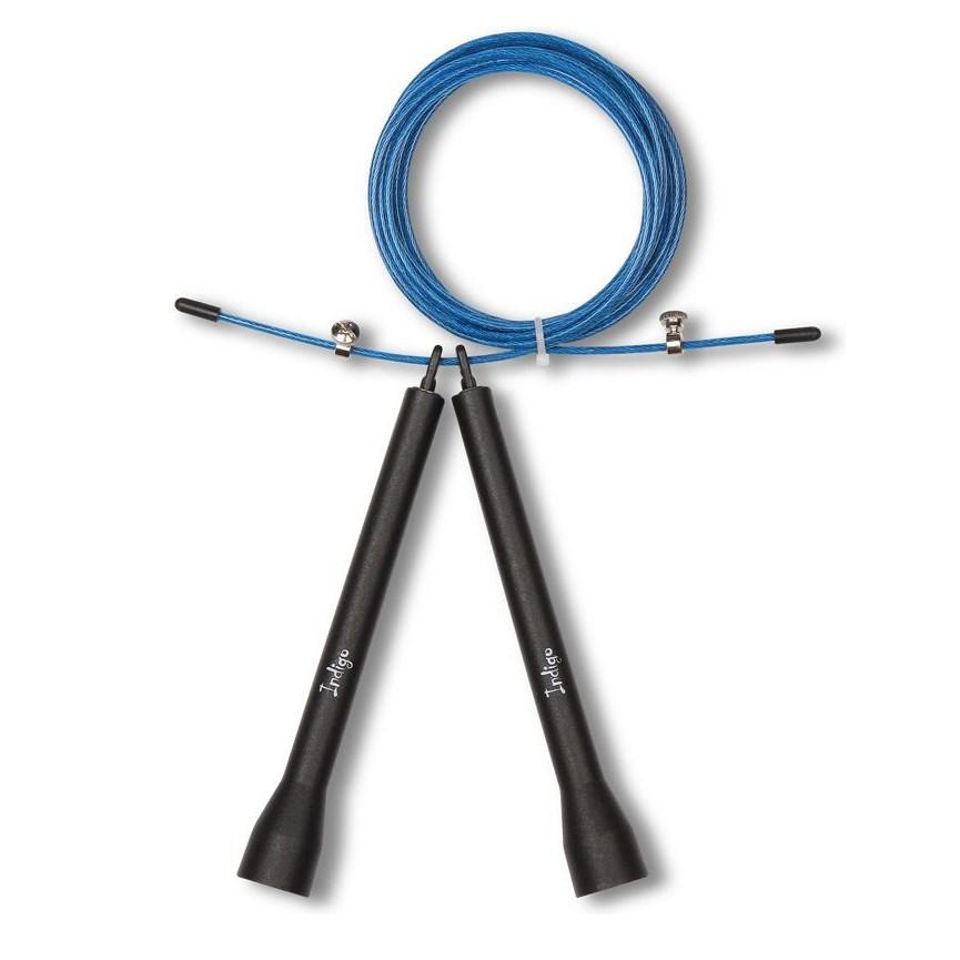 Скакалка высокооборотная INDIGO 6141-3 HKJR Кроссфит 2.7м стальной шнур