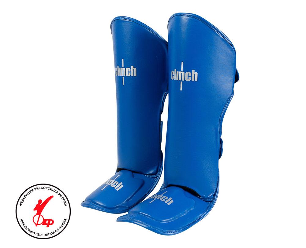 Защита голени и стопы Clinch Shin Instep Guard Kick синяя, размер L, артикул C521