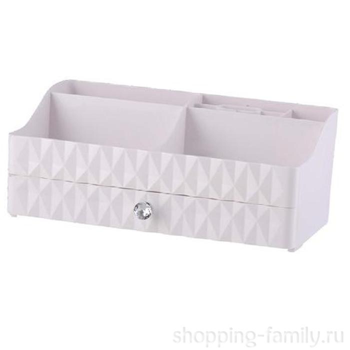 Настольный комод для косметических принадлежностей Storage Box QFY-3132, Цвет Серый