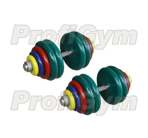 ГРЦ-70 Гантель разборная 70 кг цветная