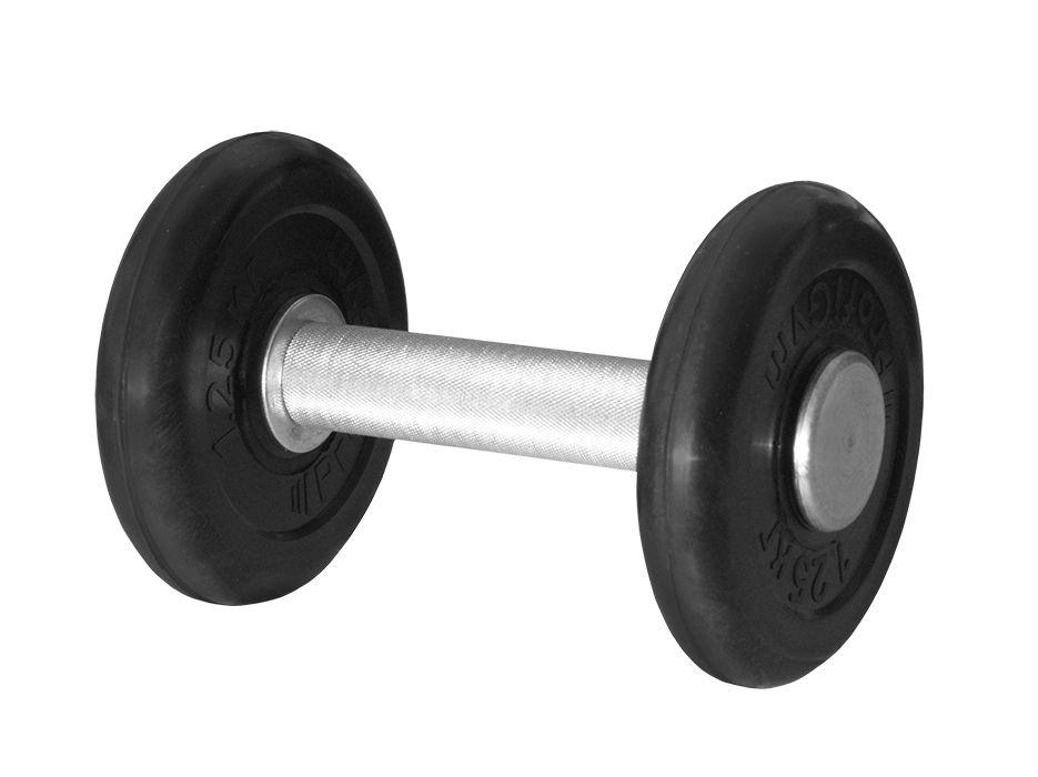 ГНР-3,5 Гантель «PROFIGYM» неразборная с хромированной ручкой 3,5 кг, черная