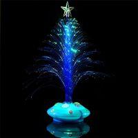Светящаяся LED елочка, 32 см, цвет синий (2)