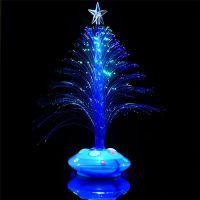 Светящаяся LED елочка, 32 см, цвет синий (1)