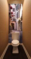 Фотообои в туалет - Тихая улица магазин Интерьерные наклейки