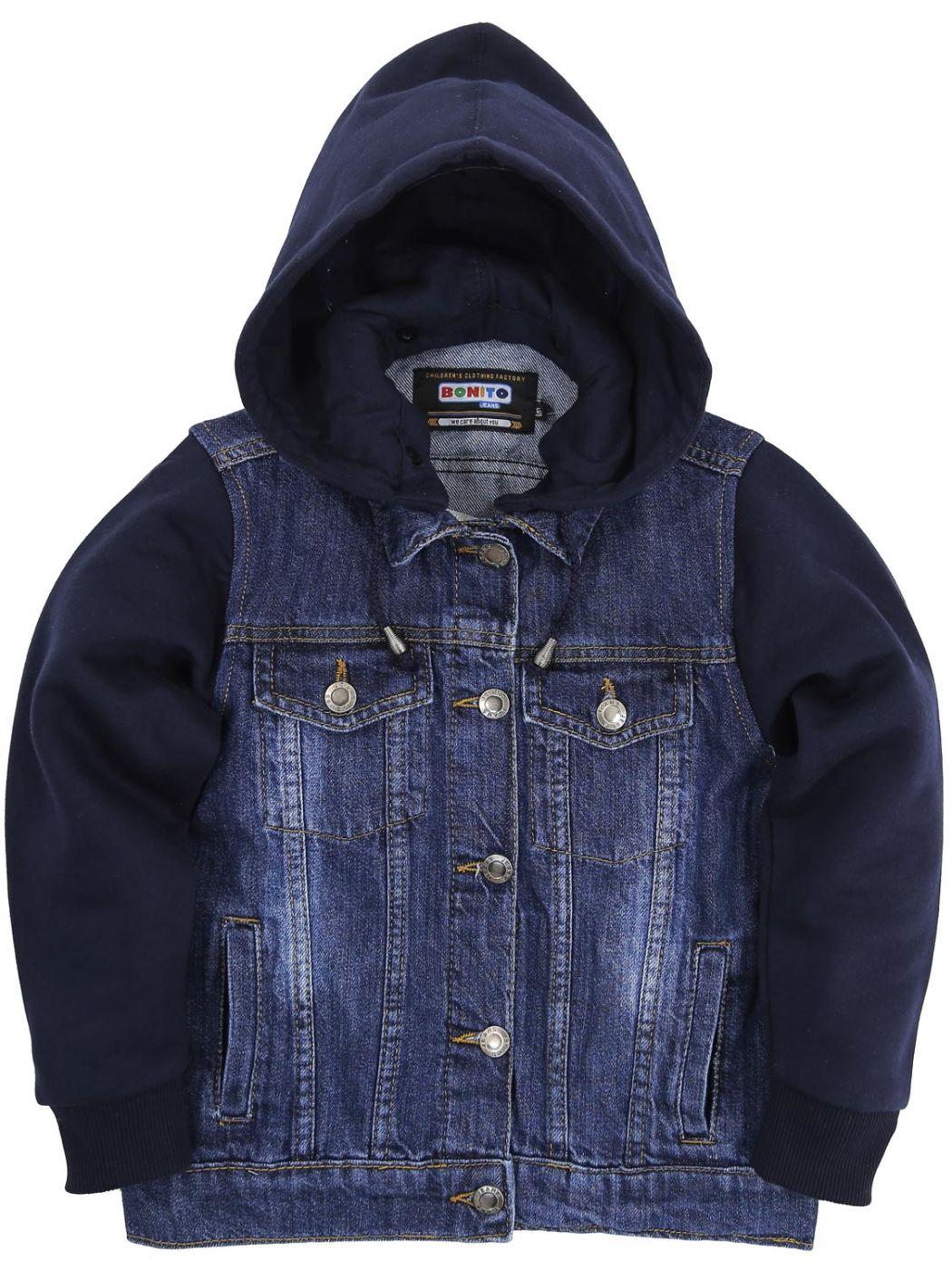 Куртка джинсовая с капюшоном Bonito Jeans Blue