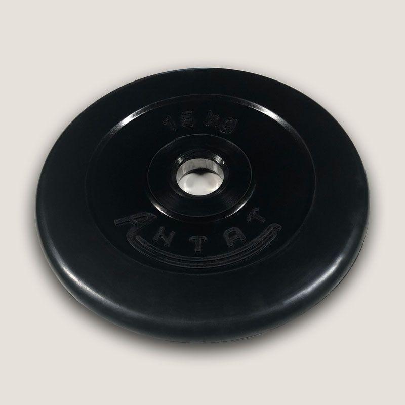 АН-15 Диск «Антат» тренировочный обрезиненный 15 кг, посадочный диаметр 26, 31, 51 мм