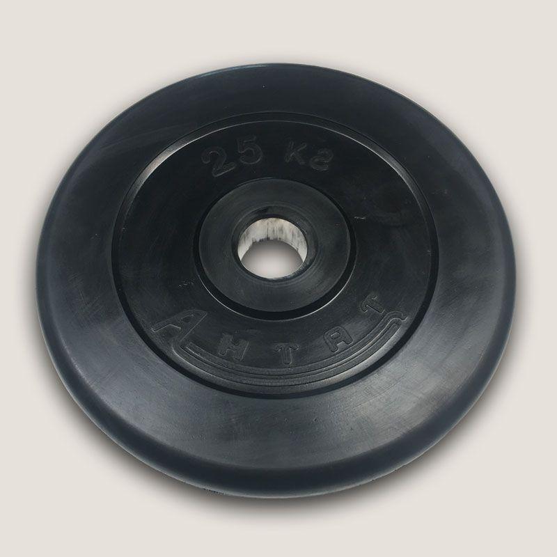 АН-25 Диск «Антат» тренировочный обрезиненный 25 кг, посадочный диаметр 26, 31, 51 мм